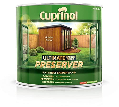 (Cuprinol Ultimate Garden Wood Preserver Golden Cedar 1L )