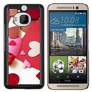For HTC One M9Plus M9+ M9 Plus Case , Paper Heart Amor- Diseño Patrón Teléfono Caso Cubierta Case Bumper Duro Protección Case Cover Funda