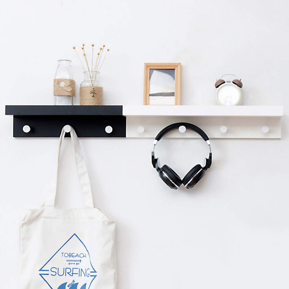 P 96.6x12x8cm(38x5x3inch) Bamboo Coat Hook Wall Mounted,6 Hooks Coat Racks,Beautiful Entryway Hanger for Home Office or Dorm Room Easy Assembly-O 83.8x12x8cm(33x5x3inch)
