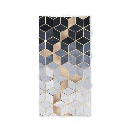 Donola - Toalla de baño, diseño de Cubos, Color Azul