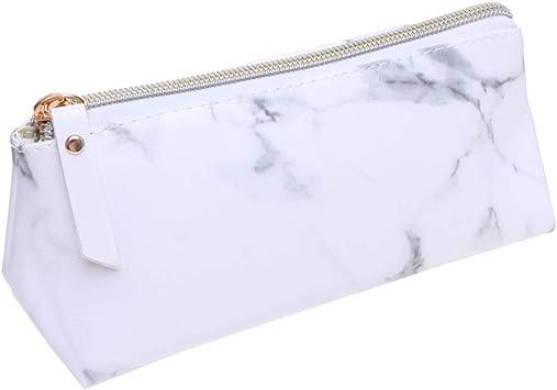 Lurrose Bolsa de Maquillaje de mármol Bolsa de baño de Viaje Impermeable Estuche portátil con Cremallera para Mujer (Talla s): Amazon.es: Equipaje