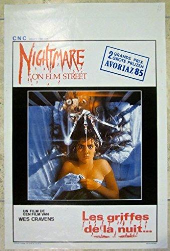 NIGHTMARE ON ELM STREET -ORIGINAL 1984 BELGIAN POSTER- SCARY FREDDY KRUEGER ART -