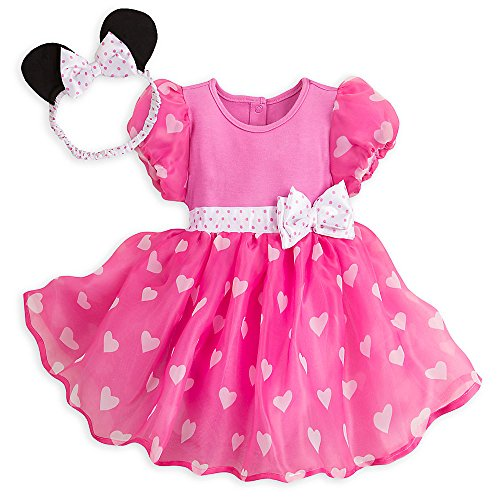 [Disney Minnie Mouse Costume Bodysuit for Baby - Pink - Size 9-12 MO] (Toddler Minnie Mouse Costume Pattern)