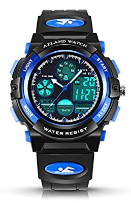 AZLAND Boys Girls Watches,Sports Watch,Digital Watch Features Night-light,Swim,Frozen,Waterproof Kids Watch from AZLAND