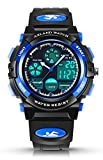 AZLAND Sports Digital Kids Wrist Watches for Boys Quartz Analog Pointer Waterproof Teenagers Wacth Blue