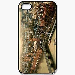 Protective Case Back Cover For iPhone 4 4S Case London Bridge Architecture Black