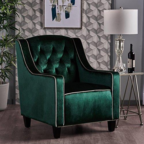 Christopher Knight Home 302069 Giada-Ckh Arm Chair, Emerald/Pistachio/Dark Brown