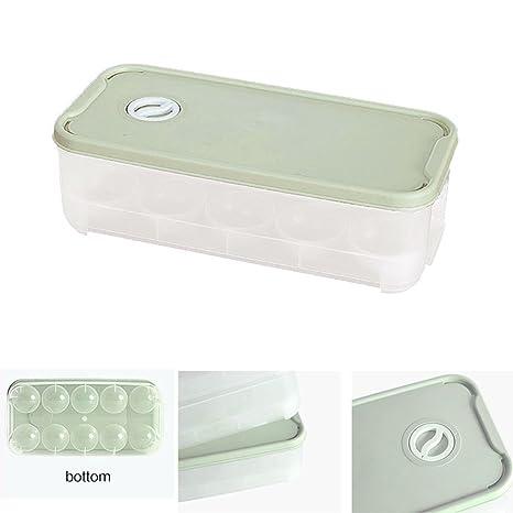 Baffect Nevera Huevo Cajas Almacenamiento 10 Rejillas Huevo Bandejas Case contenedor Plástico Hogar Cocina Comida Refrigerador