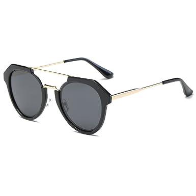 a600b97d3be Leidisen Polarized Sun Glasses Women Unique Hollow Brand Designer Mirror  UV400 (Black Frame