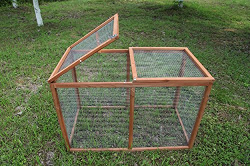 ECOLINEAR Outdoor 40'' Wooden Run Cage Chicken Coop Hen House Poultry Pet Hutch Garden Backyard (Run Cage) by ECOLINEAR