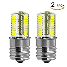 DiCUNO E17 LED Bulb Microwave Oven Light 4 Watt Dimmable Daylight White 6000K 723014SMD AC110-130V (2-Pack)