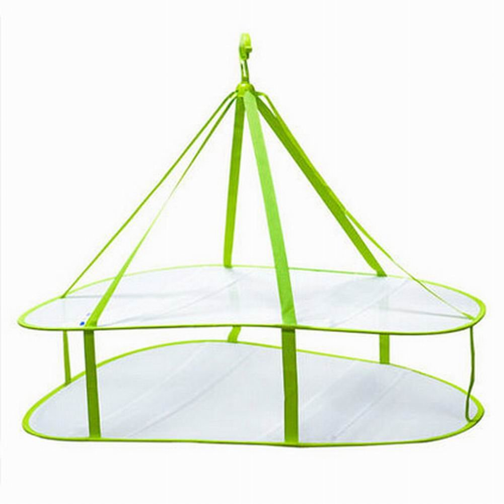 2 Tier Utility Sweater Etendoir / Hanging Net séchage Panier, Rectangle Blancho Bedding