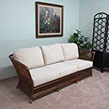 Riga Rattan Sofa Couch Cushions Made in USA Delivered Fully Assembled