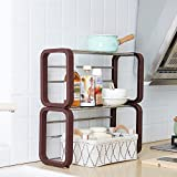 PM-Shelf Sink Racks Can Be Stacked Stainless Steel Multi-function Finishing Rack Kitchen Cabinets Living Room (Size : B1)