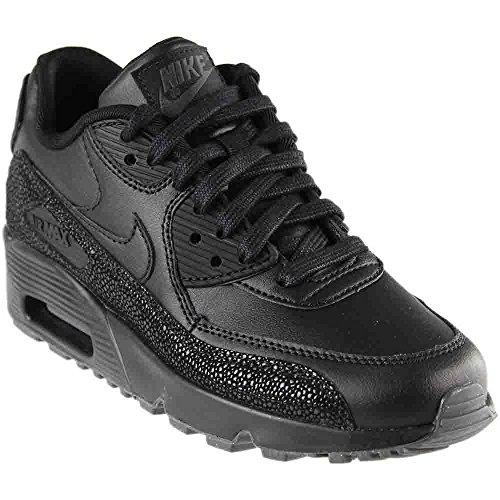 Nike Mädchen Air Max 90 Lth GS Gymnastikschuhe Black/Dark Grey/Black