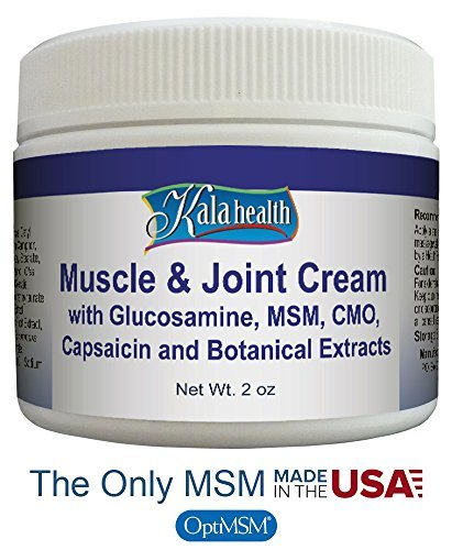 Kala Health   Natural Topical Muscle   Joint Cream   Fast Acting Topical Cream For Muscle Discomfort   Contains Glucosamine  Msm  Cmo And Capsaicin To Provide Quick Relief  By Kala Health