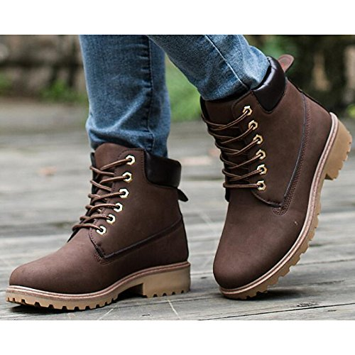 Shoes Combat Black Brown Yellow Boots Boots Boots PU ZHZNVX Winter Casual Ankle HSXZ Comfort Booties Heel Women's Yellow Chunky for Fall SWEqfBgw