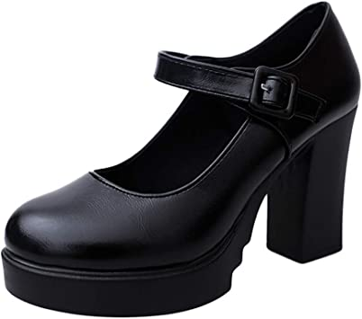 TTbuy Womens Pumps Block High Heel