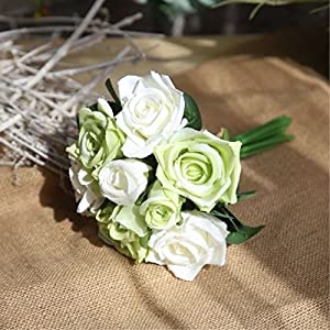 FYYDNZA Rose Artificial Flowers Wedding Decoration 9Pcs/Lot Diy Silk Flowers Bouquet Bride With Flowers Home Decor 54