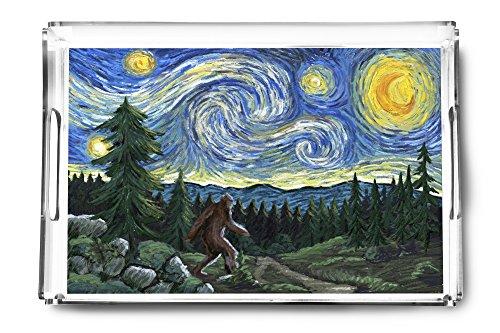 (Northwest - Van Gogh Starry Night - Bigfoot (Acrylic Serving Tray))