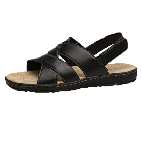 Mens Casual Sling Back Sandal BLACK