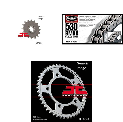 Honda Cbr600f3 Rear Sprocket - BIKEMASTER 530 BMXR Sealed Chain Natural, JT Front & Rear Sprocket Kit for Street HONDA CBR600F3 1995-1996