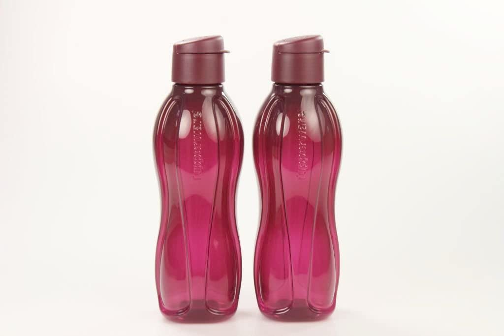TUPPERWARE To Go EcoEasy 29637 - Botella ecológica con cierre de clip (750 ml), color rojo burdeos