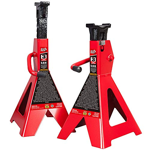 Torin Big Red Steel Jack Stands: SUV / Extended Height, 3 Ton Capacity, 1 - Stands Jack Ton