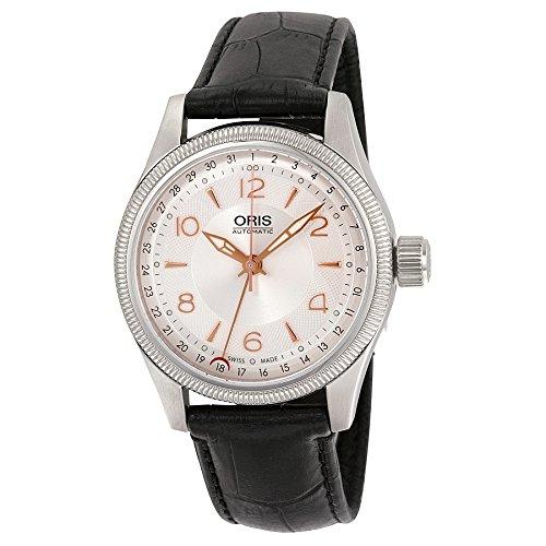 Oris Big Crown Pointer Date Silver Dial Black Leather Strap Mens Watch (Big Crown Pointer)