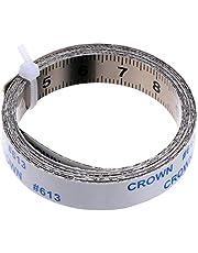 ULTECHNOVO Koolstofstaal Maatregel Tape Sticky Adhesive Meten Liniaal Multifunctionele Meten Gadget Verwijderbare Liniaal Tape 100X1CM