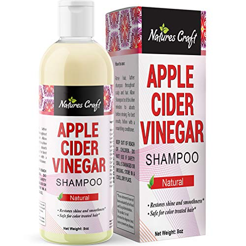 Raw Apple Cider Vinegar Shampoo - Clarifying Hair Growth Shampoo for Oily Hair - Sulfate Free Organic ACV Shampoo for Fine Hair - Natural Hair Care for Men and Women with Keratin and Jojoba Oil 8 oz