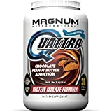 Magnum Nutraceuticals Quattro Protein Powder - 2lbs - Chocolate Peanut Butter Addiction - Protein Isolate - Lean Muscle Creator - Metabolic Optimizer