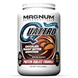 Cheap Magnum Nutraceuticals Quattro Protein Powder – 2lbs – Chocolate Peanut Butter Addiction – Protein Isolate – Lean Muscle Creator – Metabolic Optimizer