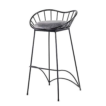 Pleasing Amazon Com Qqxx Bar Stool Metal Breakfast High Chair Ncnpc Chair Design For Home Ncnpcorg