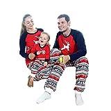 Baywell Family Pyjamas Matching Set, Deer Printed Sleepwear Nightwear Homewear for Child Mom Dad
