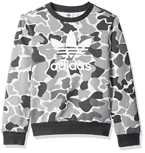 adidas Originals Boys Trefoil Camo Print Crew