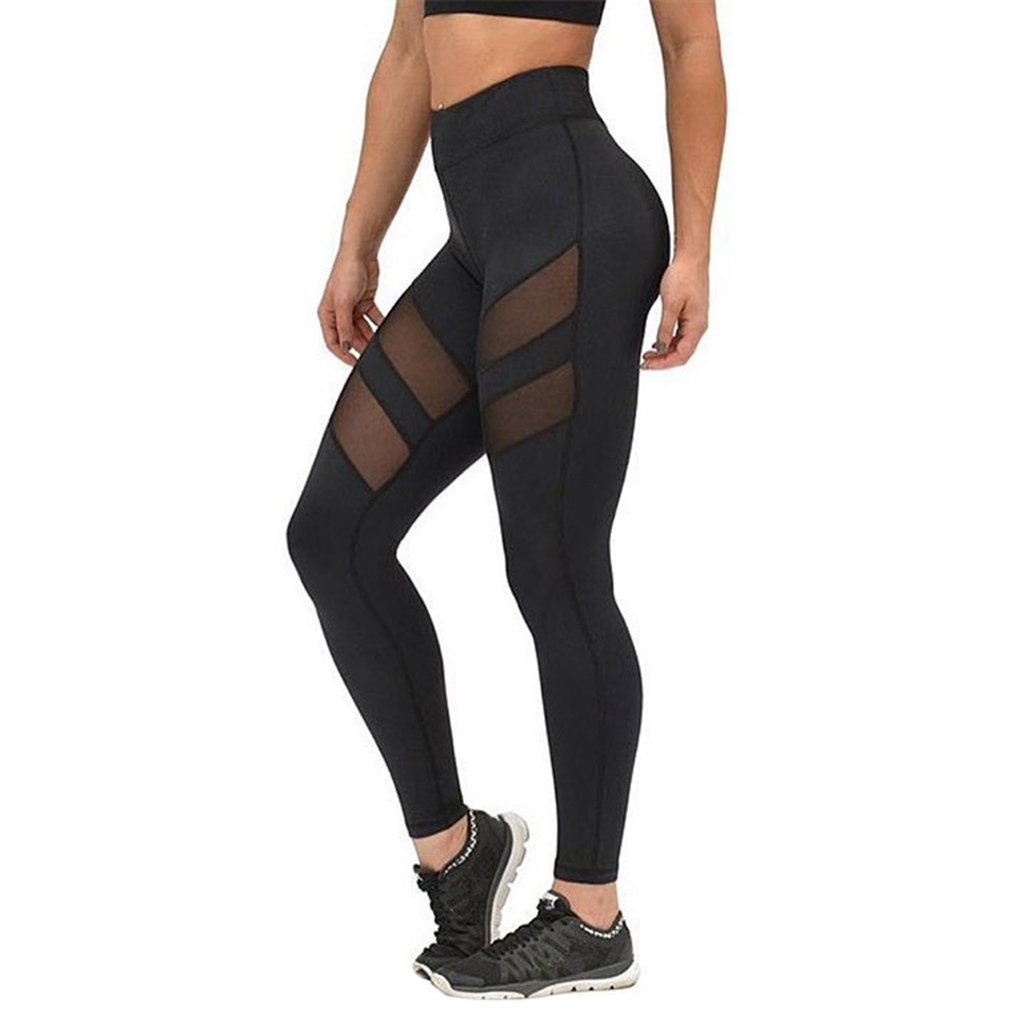 Overdose Women High Waist Fitness Yoga Sport Pants Printed Stretch Nine Points Leggings