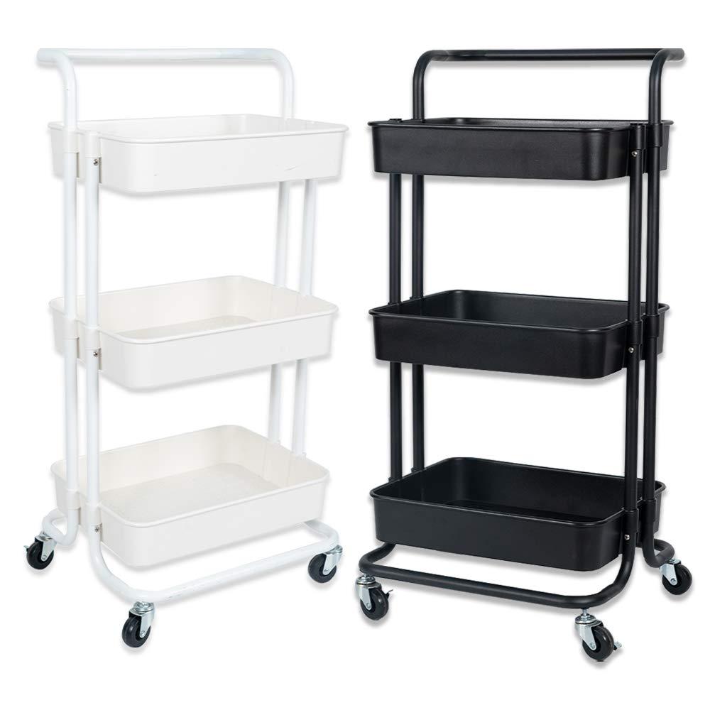 NiDream 20-Etagen Küchenwagen, Rollwagen, multifunktionaler Servierwagen mit  beweglichen Rädern für Küche, Schlafzimmer, Badezimmer und Balkon
