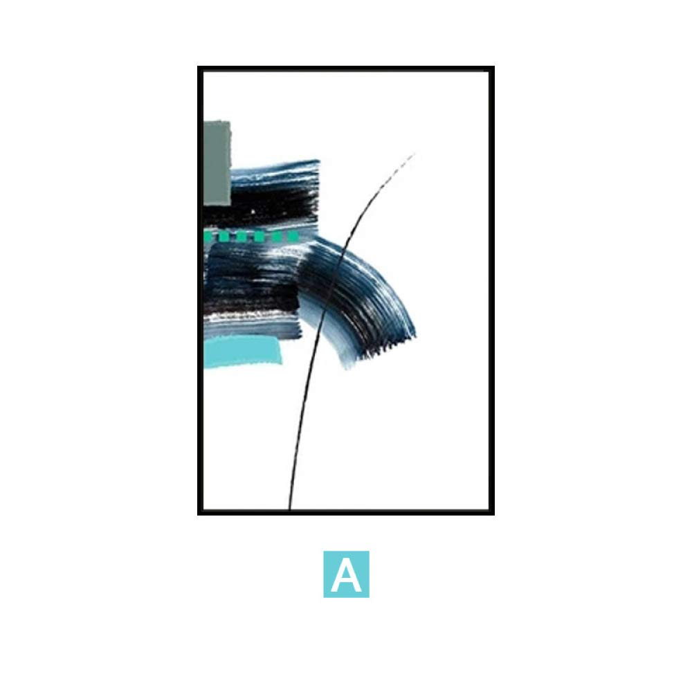 DEED Pintura Minimalista nórdica del Arte Abstracto, Pintura Decorativa Triple de la Sala de Estar, Pintura de cabecera del Dormitorio, Pintura de Pared,E,50  70