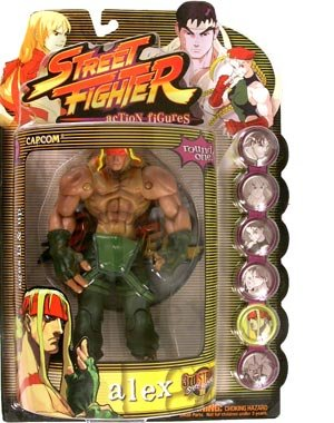 Street Fighter Round 1 Alex Action Figure (Player One - Green Outfit)
