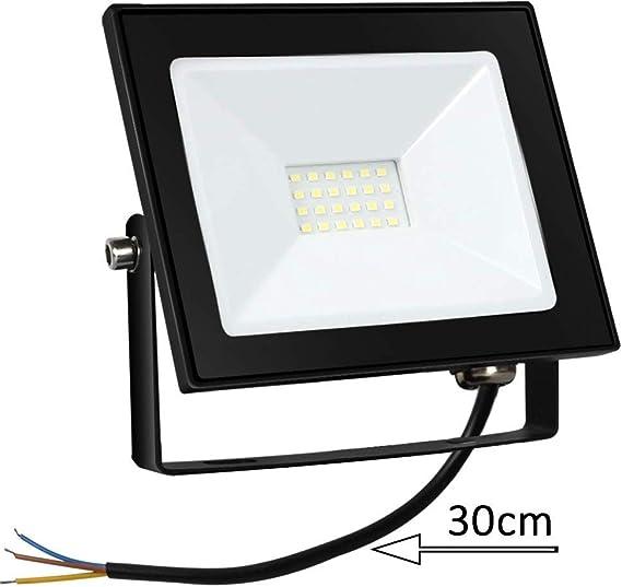 Proyector LED de 20W Floodlight 1600LM Focos LED Exterior para ...