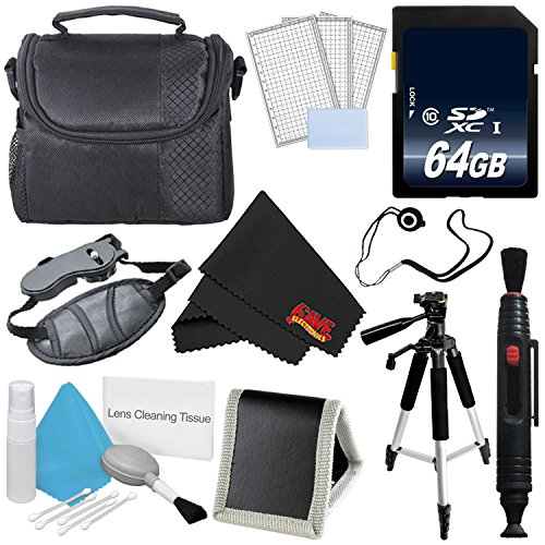 Accessory Kit for Nikon Coolpix B500,B700, P900, 64GB SDXC Class 10 Secure Digital High Speed Memory Card + Camera Case + More