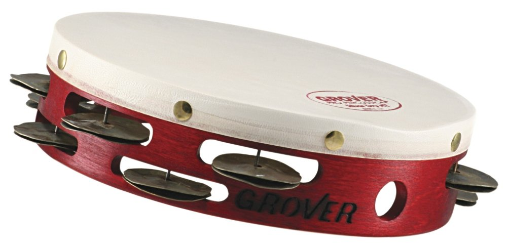 Grover Pro Projection-Plus Double-Row Heat Treated Silver Tambourine 8 in.