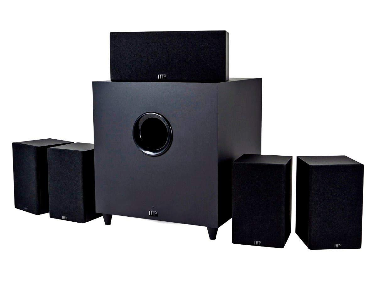 Monoprice 10565 Premium 5.1 Channel Home Theater System with Subwoofer