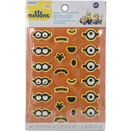 Wilton 710-4600 24 Count Despicable Me Minions Icing Decorations, Multicolor -