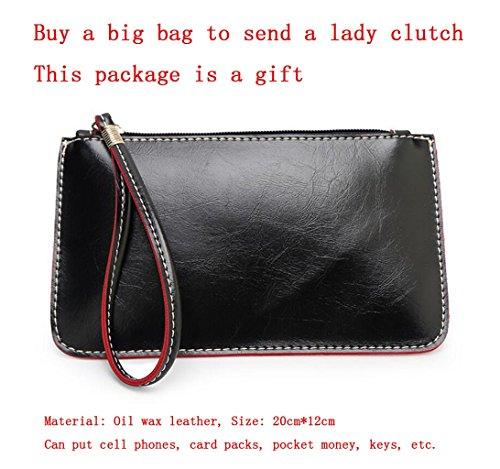 temperamento de Wallet del Free GKKXUE manera Bag bolso Bolso de la la hombro Marrón de Azul Color ocasional mujer del Messenger ICIxgpwq