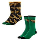 Nintendo Legend of Zelda 2 Pack Triforce Crew Socks