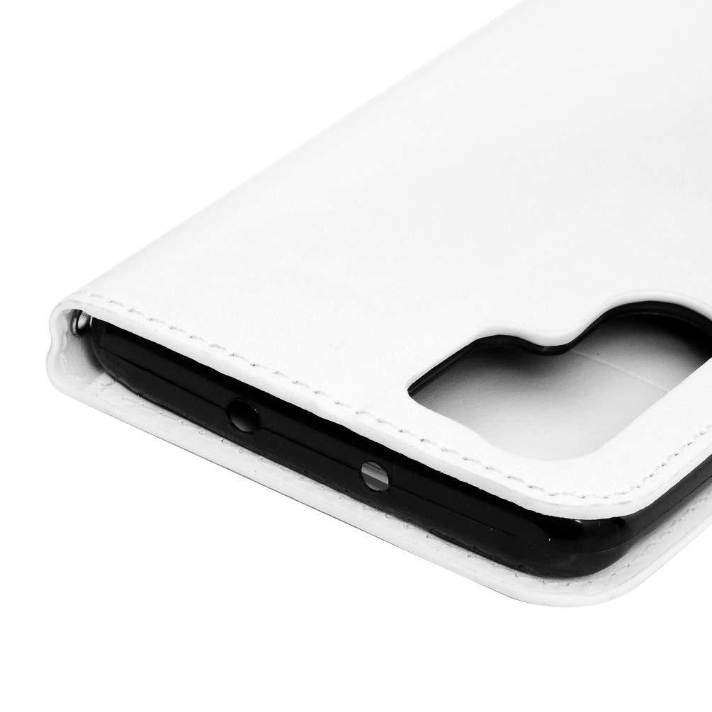 idlehour funci/ón Atril con Cierre magn/ético Incluye l/ápiz Capacitivo y tap/ón Antipolvo Wei/ß Schmetterling Funda de Piel sint/ética para Huawei P30 Pro
