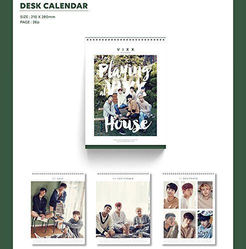 VIXX 2017 Season's Greeting Desk Calendar with Folded Poster Photo #7