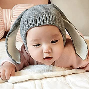 81e1e3a21f8 Cute Lovely Baby Warm Winter Hat New Fashion Rabbit Skullies Beanie Hat  Hooded Scarf Knitted Long